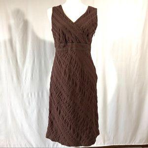 Alexandra Bartlett Brown Seersucker Sheath Dress